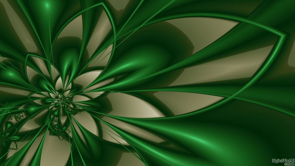 Abstract Background Color Flower Green