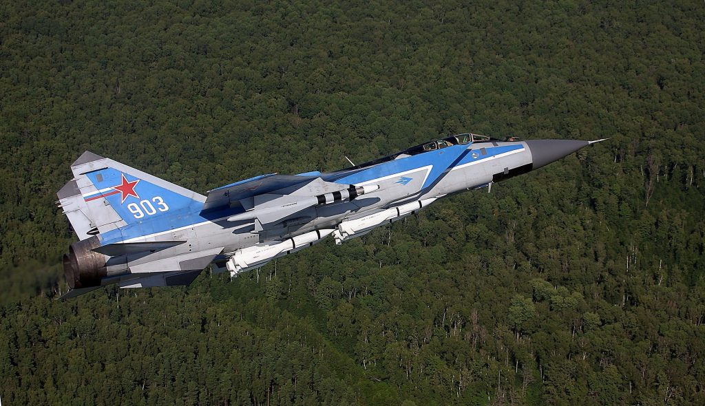 aircraft Mig 31 forests scaled