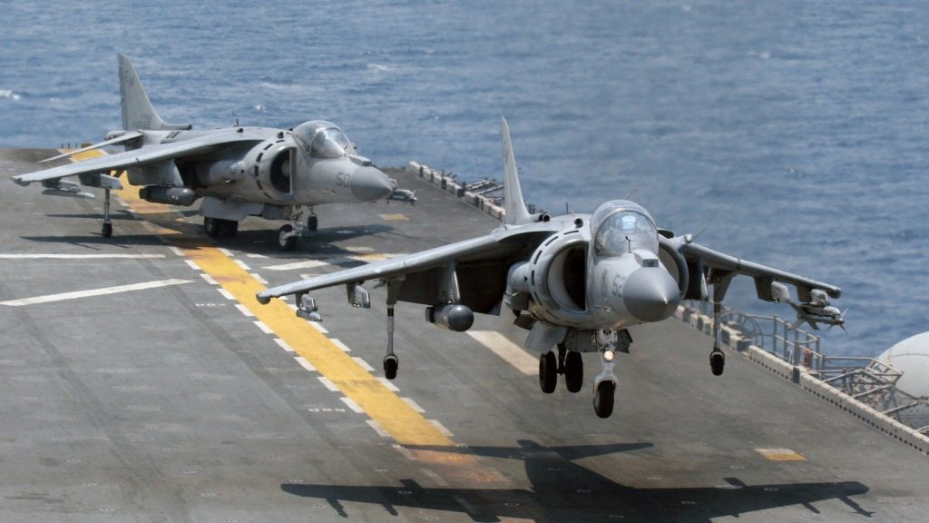 aircraft carriers Harrier sea
