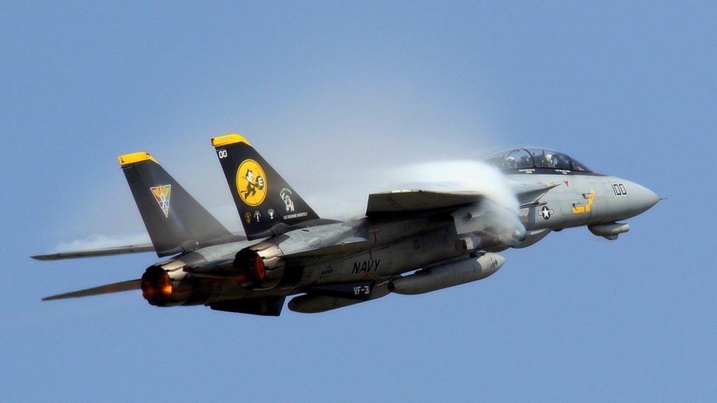 aircraft jet fighters military F 14 Tomcat