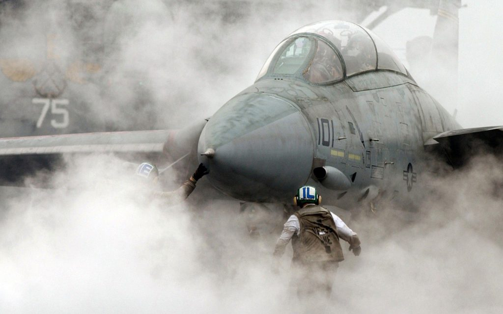 aircraft military jet fighters F 14 Tomcat