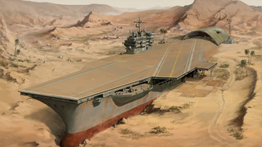 apocalyptic aircraft carriers dessert animation