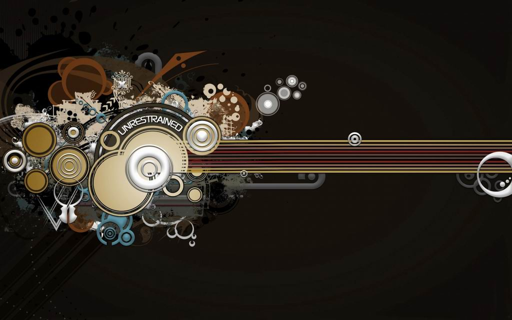 Abstract 3D abstract decorations wallpaper