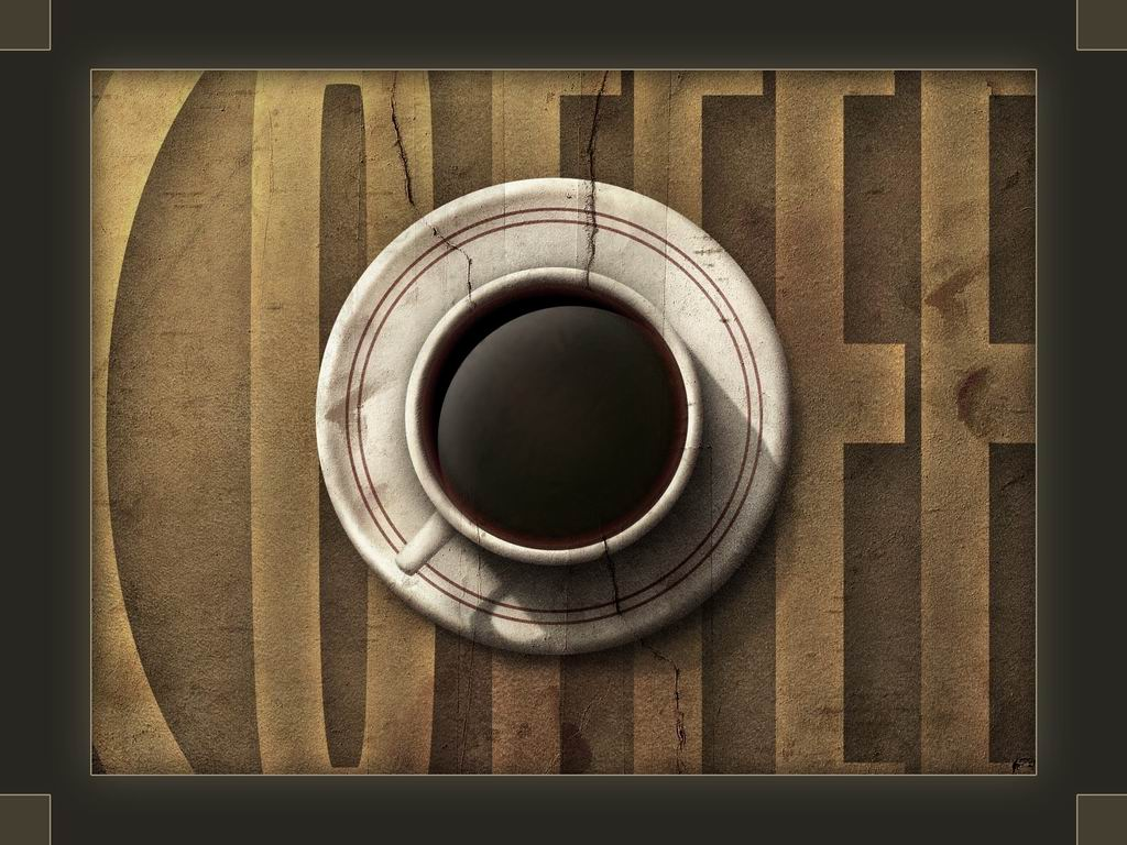 Abstract 3D rock coffee wallpaper
