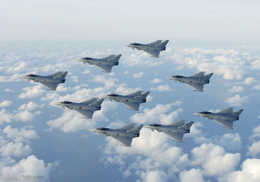 Eurofighter Typhoon Fighter planes aircraft construction vehicles skies Jet 2
