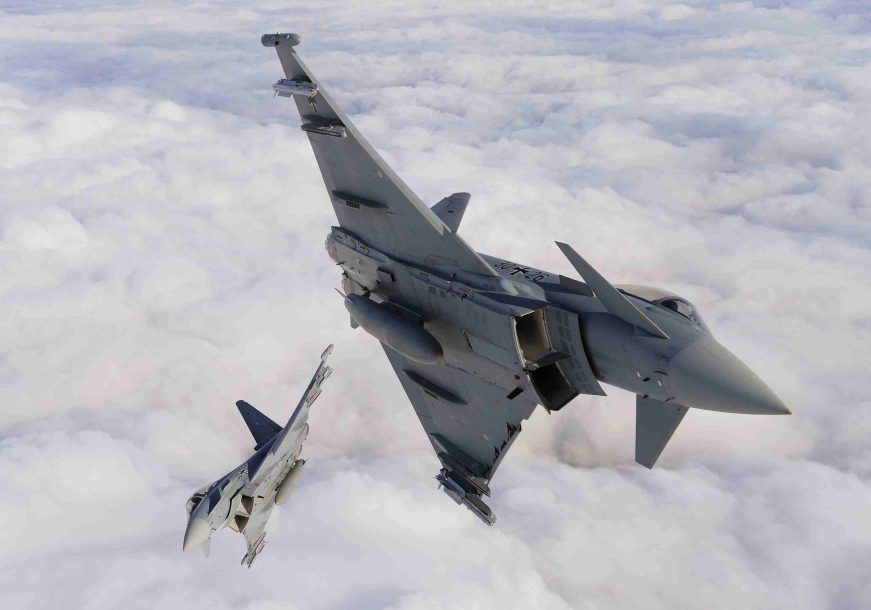 Eurofighter Typhoon Fighter planes aircraft construction vehicles skies Jet 3 scaled