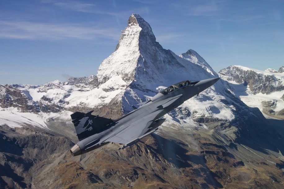 Gripen Fighter planes aircraft construction vehicles skies Jet 2