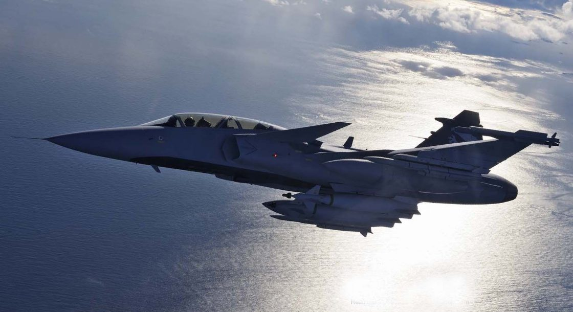 Gripen Fighter planes aircraft construction vehicles skies Jet 6