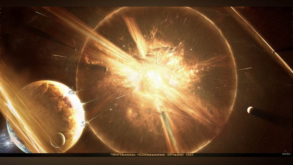 Space planet explosion wallpaper