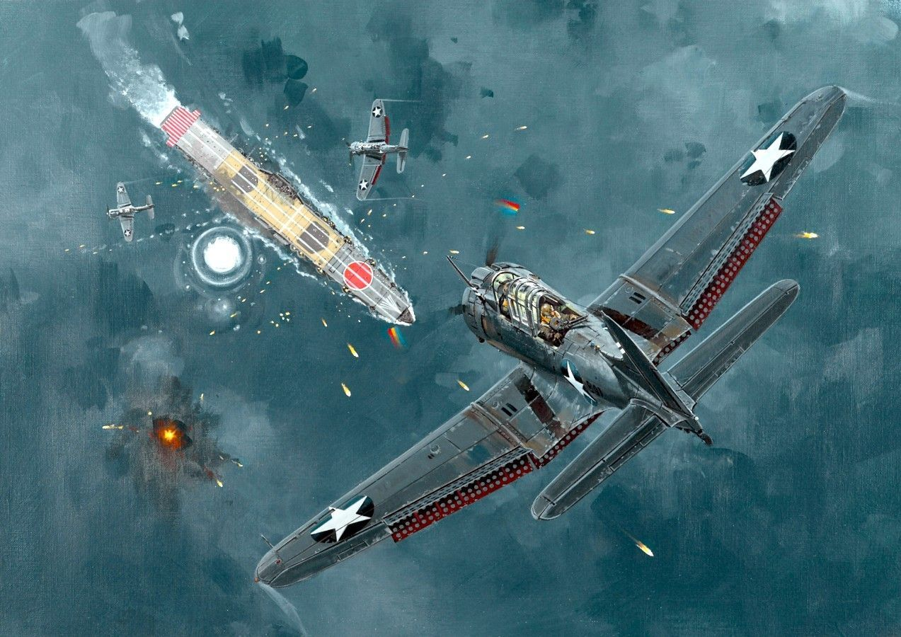 WW2 World War II aircraft military McDonnell Douglas Dauntless Dive bomber pacific Plane planes military aircraft 2