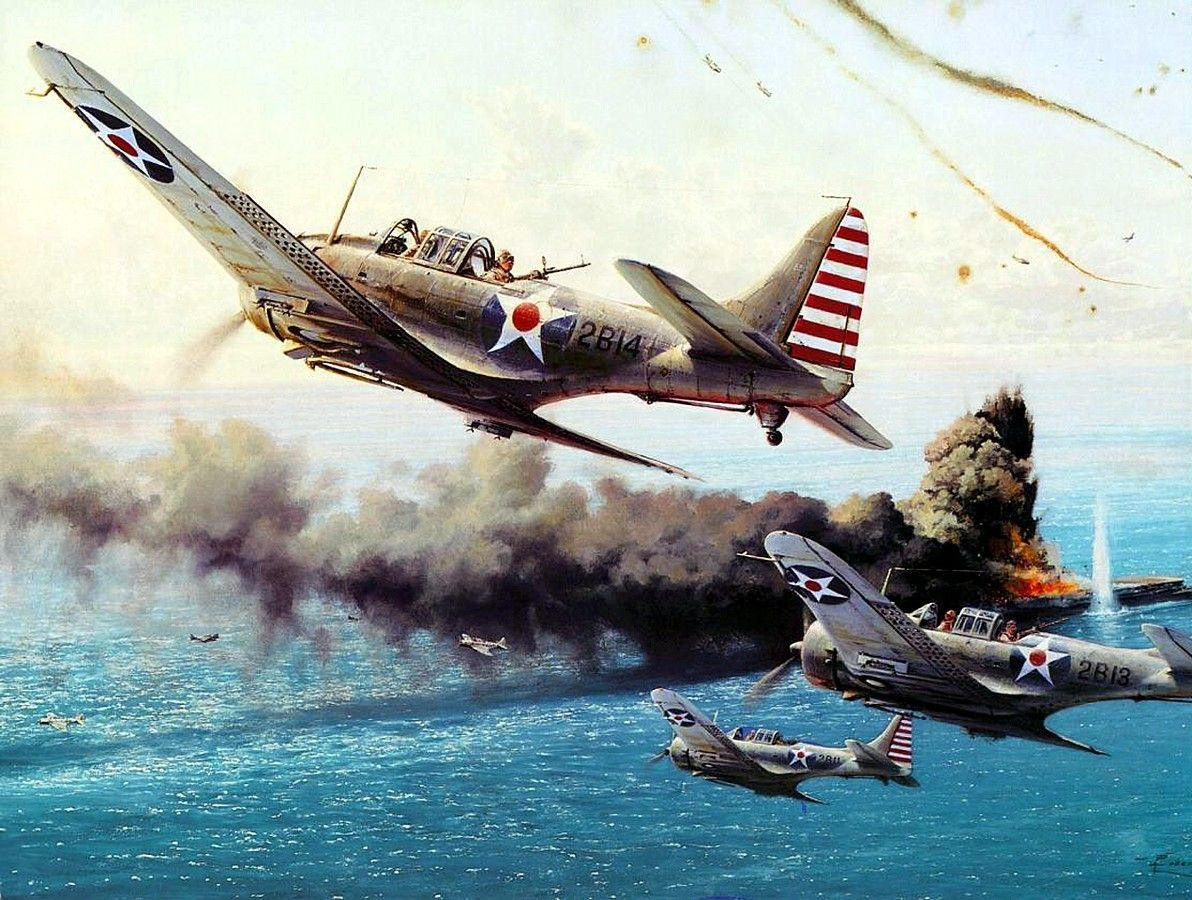 WW2 World War II aircraft military McDonnell Douglas Dauntless Dive bomber pacific Plane planes military aircraft