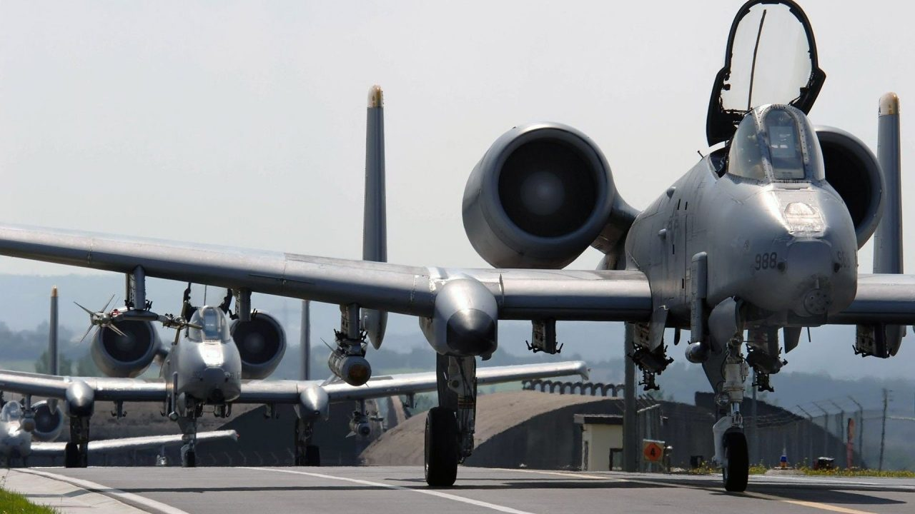 military aircraft planes jets A 10 Thunderbolt II 3