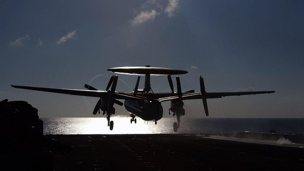 military aircraft planes jets E 2C Hawkeye
