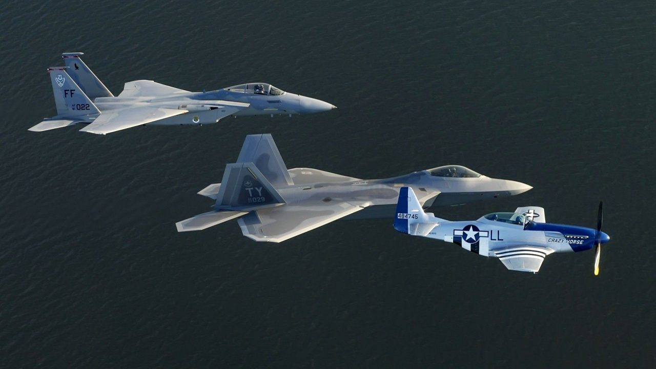 military aircraft planes jets F 15 f 22 F 22 Raptor P 51 Mustang