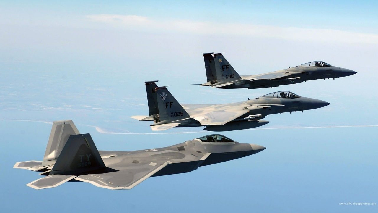 military aircraft planes jets F22 Raptor