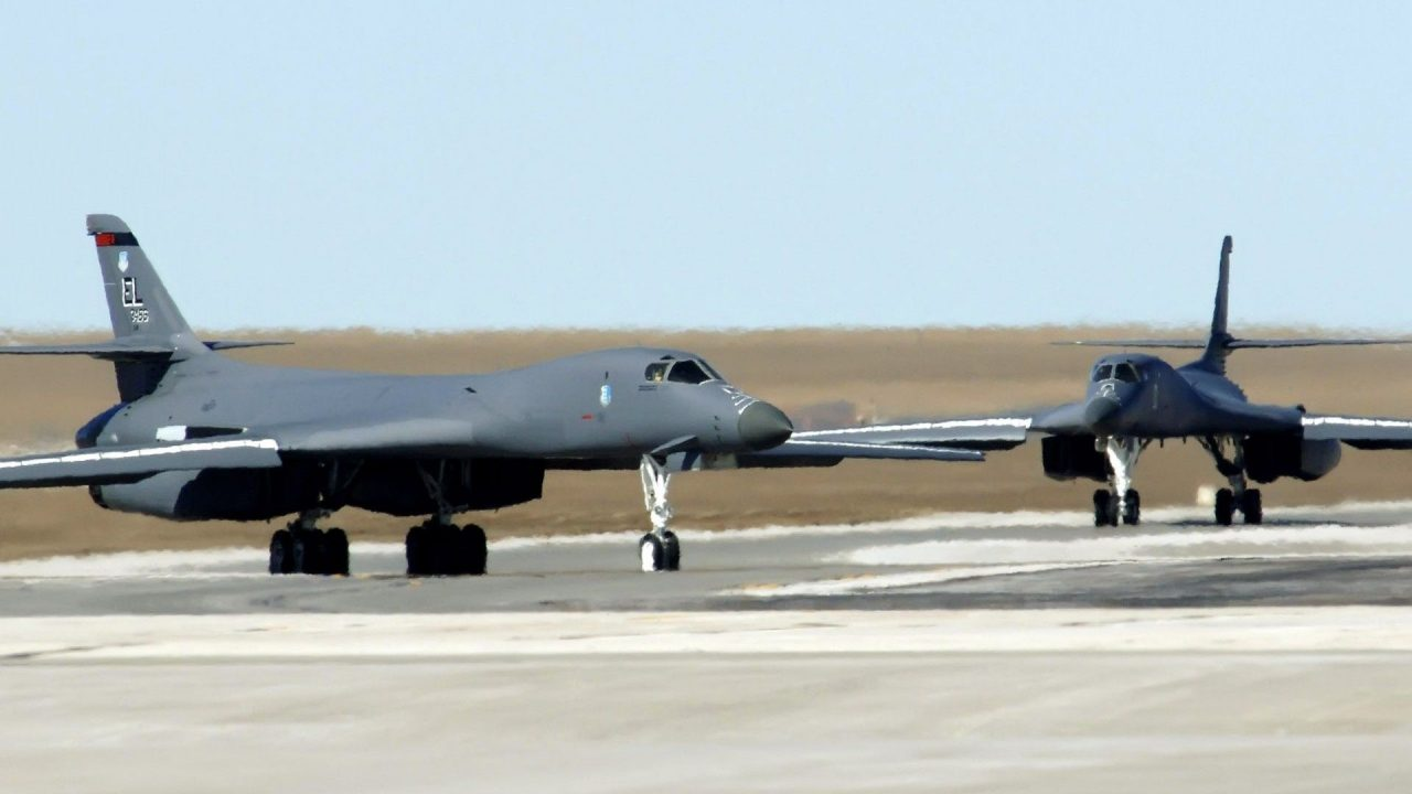 military aircraft planes jets Rockwell B 1 Lancer