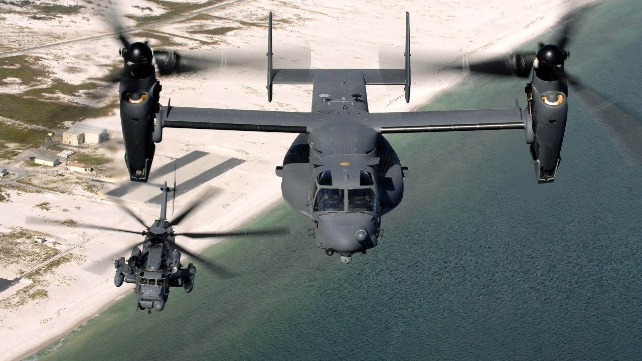 planes military CV 22 Osprey MH 53 Pave Low aircraft scaled