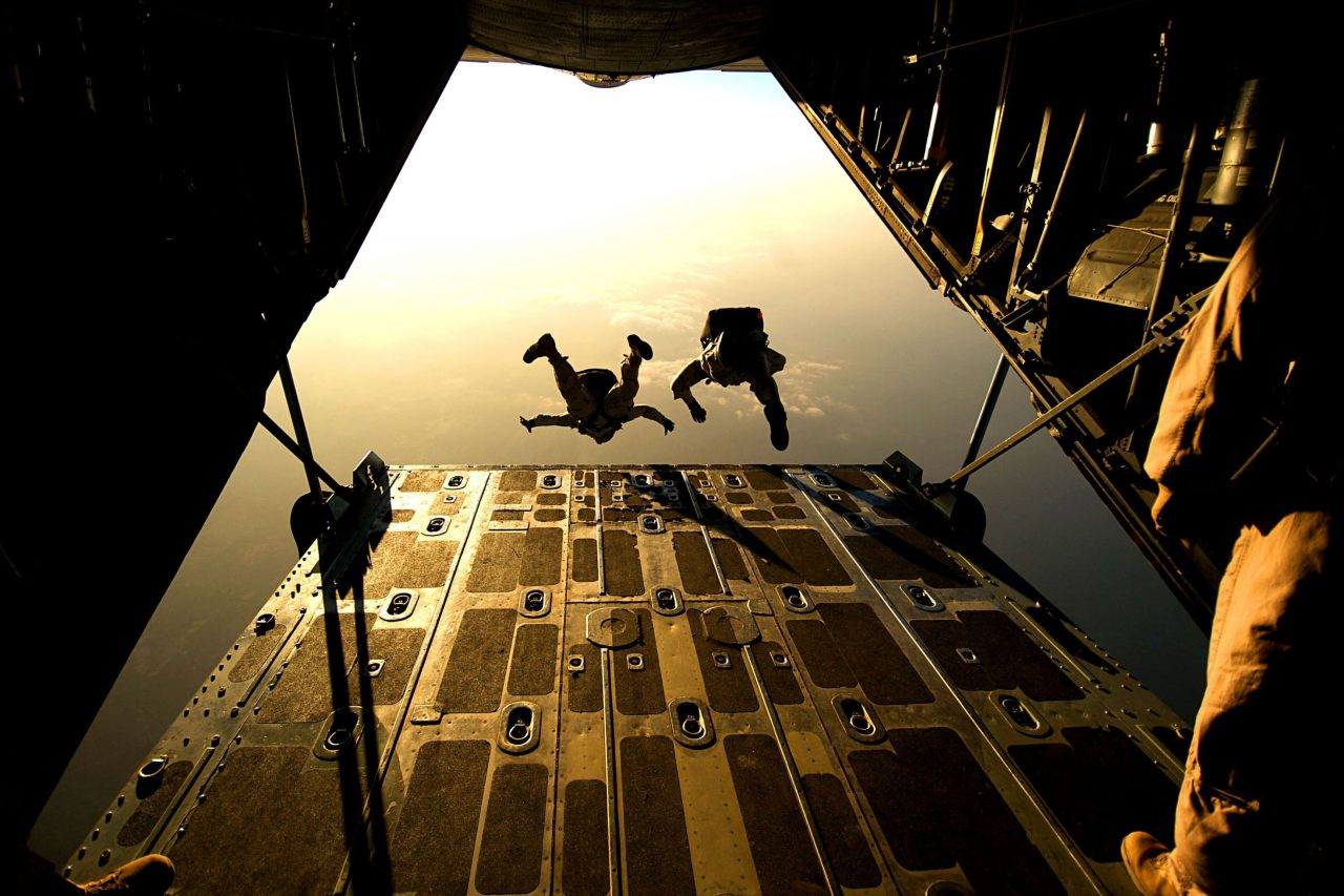 skydiving military military aircraft scaled