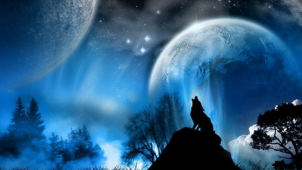 Dogs wolf howling wallpaper
