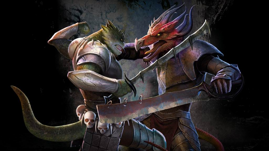 Game fight of lizards wallpaper