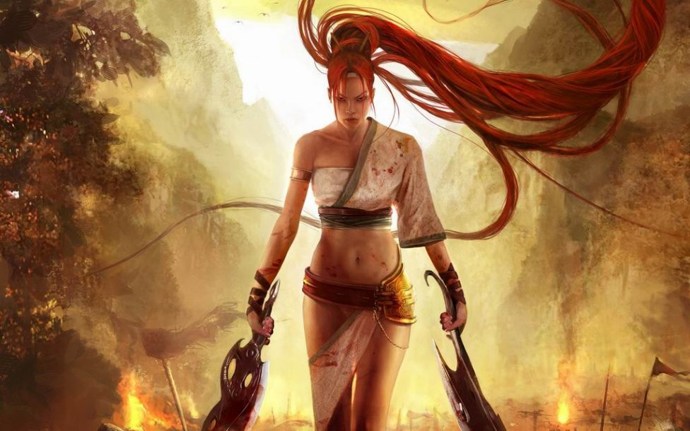 Game redhead with blades wallpaper